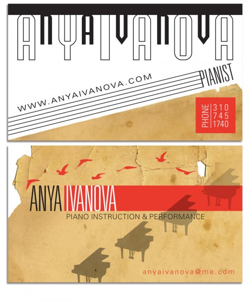 Anya Ivanova Business Card 2011